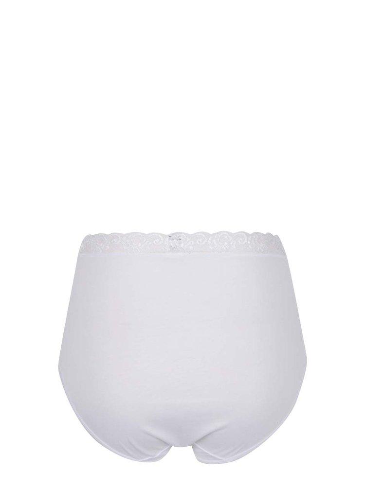 Sada tří krajkových kalhotek v bílé barvě s vysokým pasem M&Co
