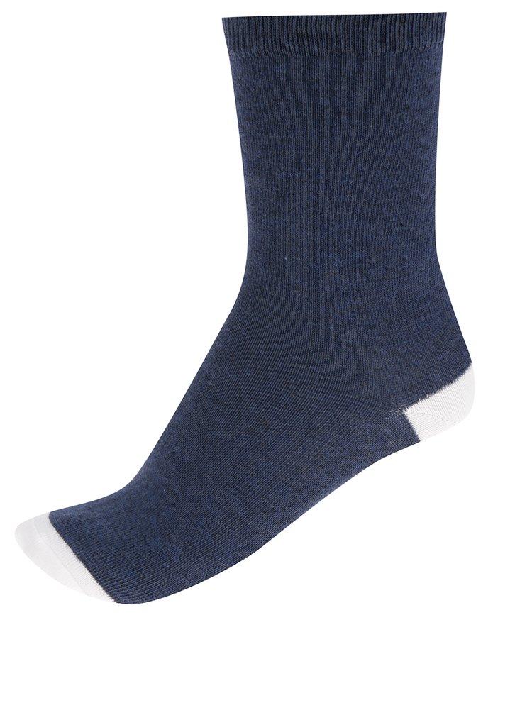 Set de 4 perechi de șosete albastru & alb M&Co cu detalii