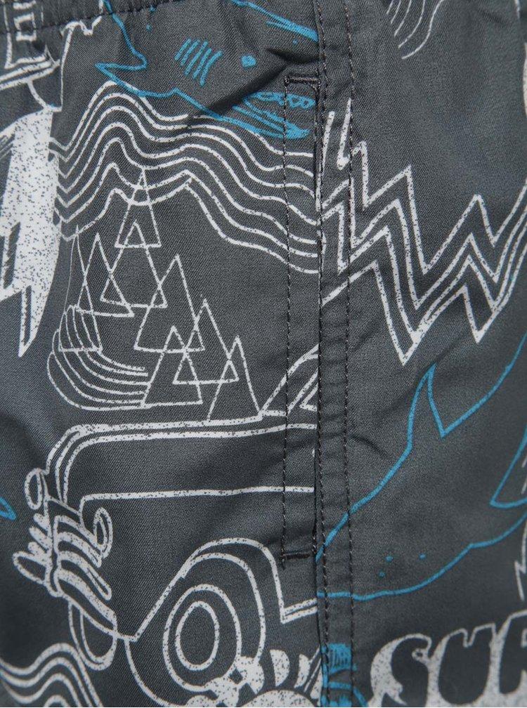 Šedé vzorované klučičí plavky Blue Seven