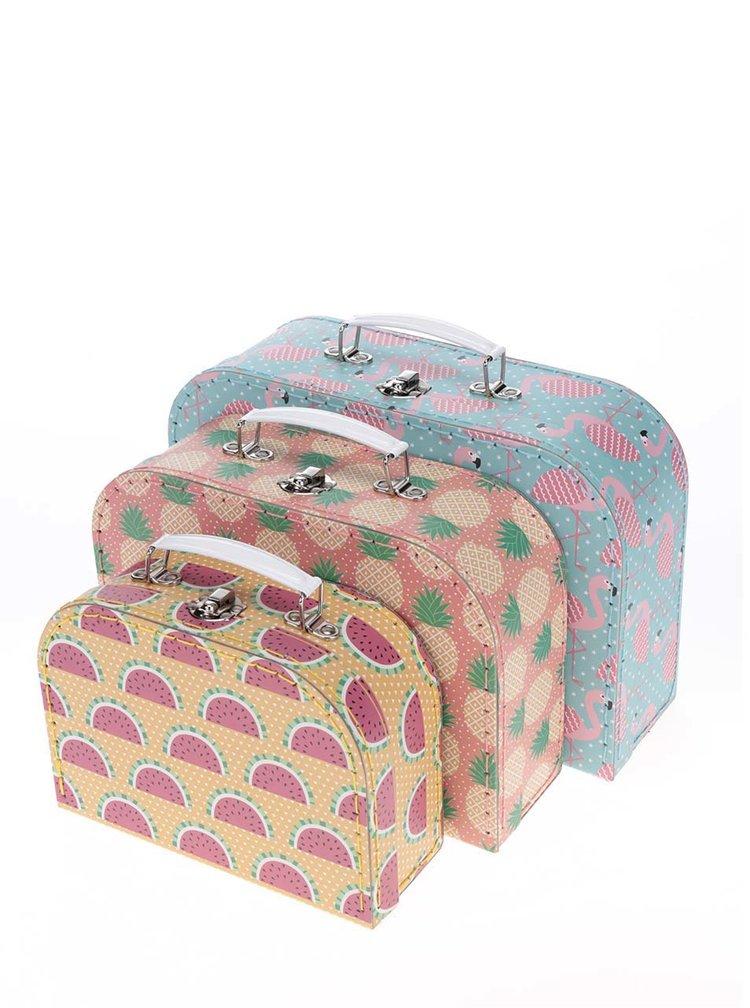 Set de 3 cutii Sass & Belle cu imprimeu