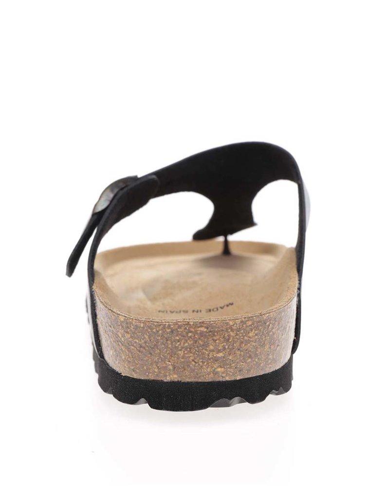 Černé dámské žabky s přezkou OJJU