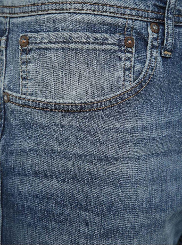 Modré džíny s vyšisovaným efektem Jack & Jones Clark