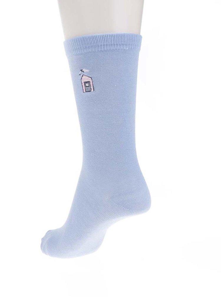 Sada pěti párů dámských ponožek v šedé a modré barvě M&Co