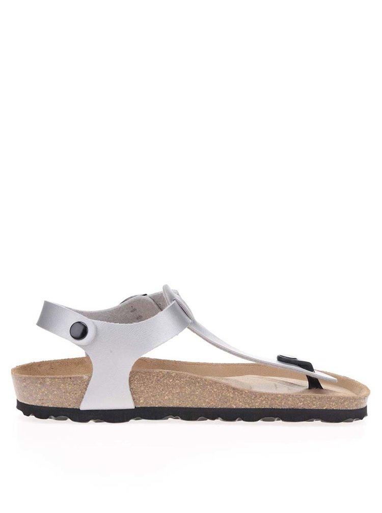 Sandale gri OJJU cu talpa comoda