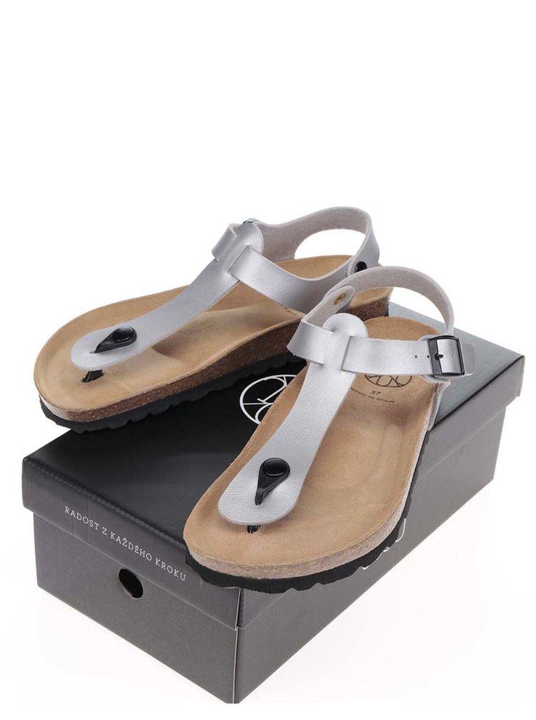 Šedé dámské sandály s přezkou OJJU