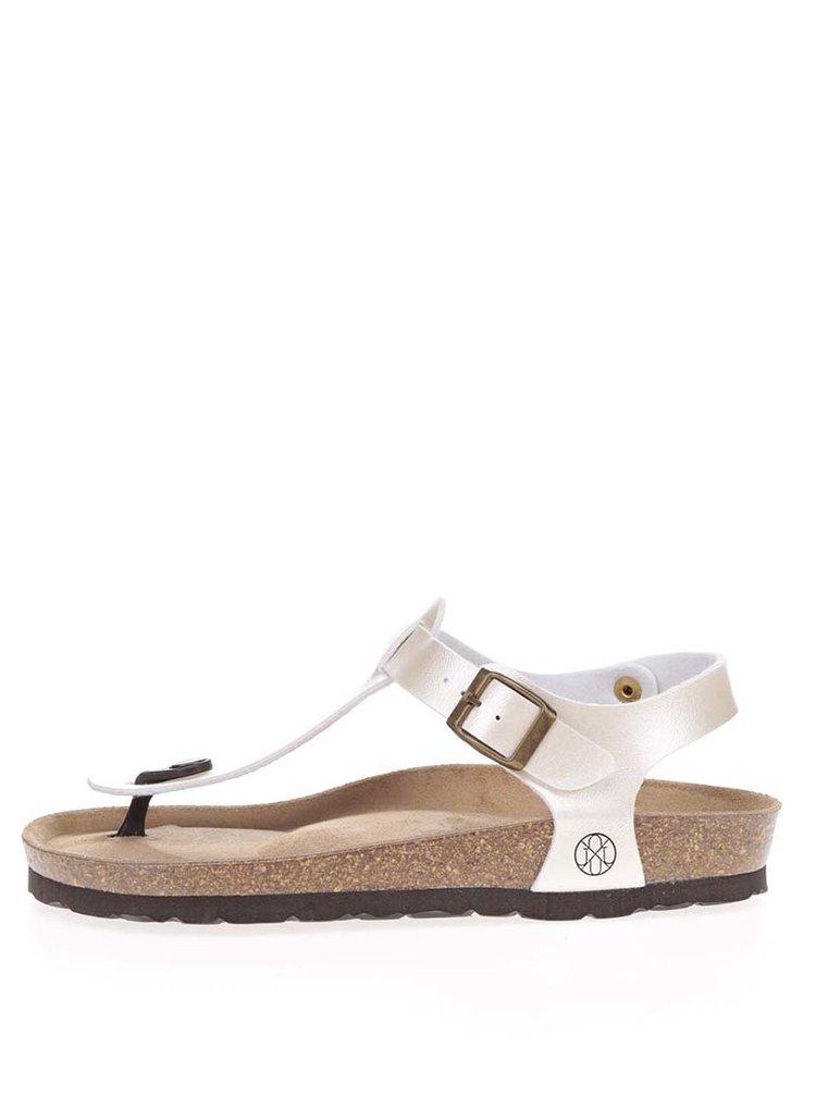 Sandale flip flop crem cu talpă comodă OJJU