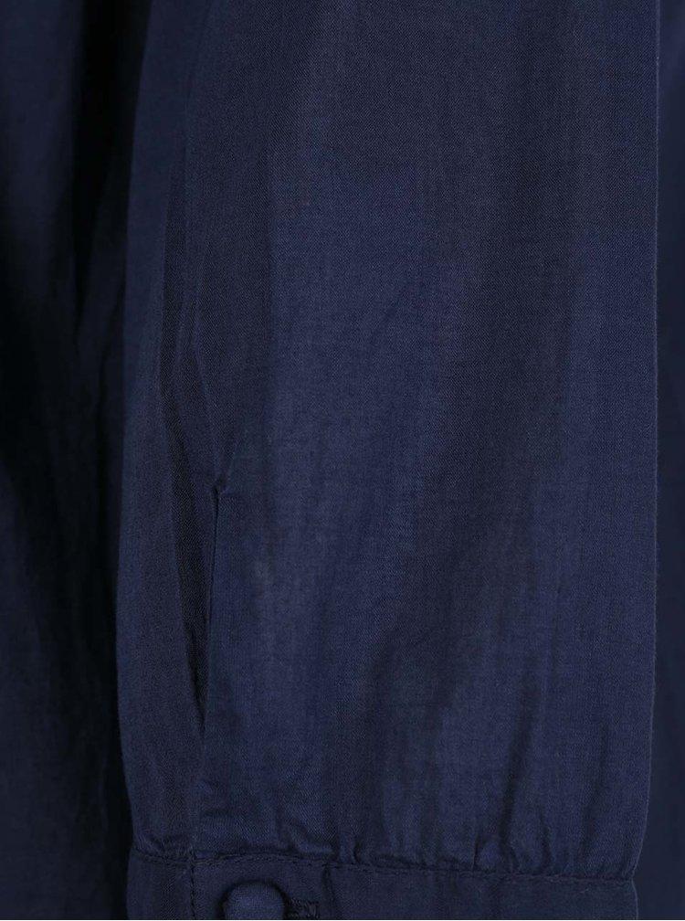 Bluza bleumarin cu buline VERO MODA Petra cu maneci 3/4