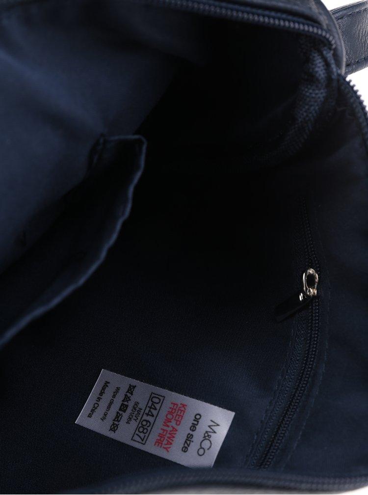 Geantă crossbody albastru închis M&Co
