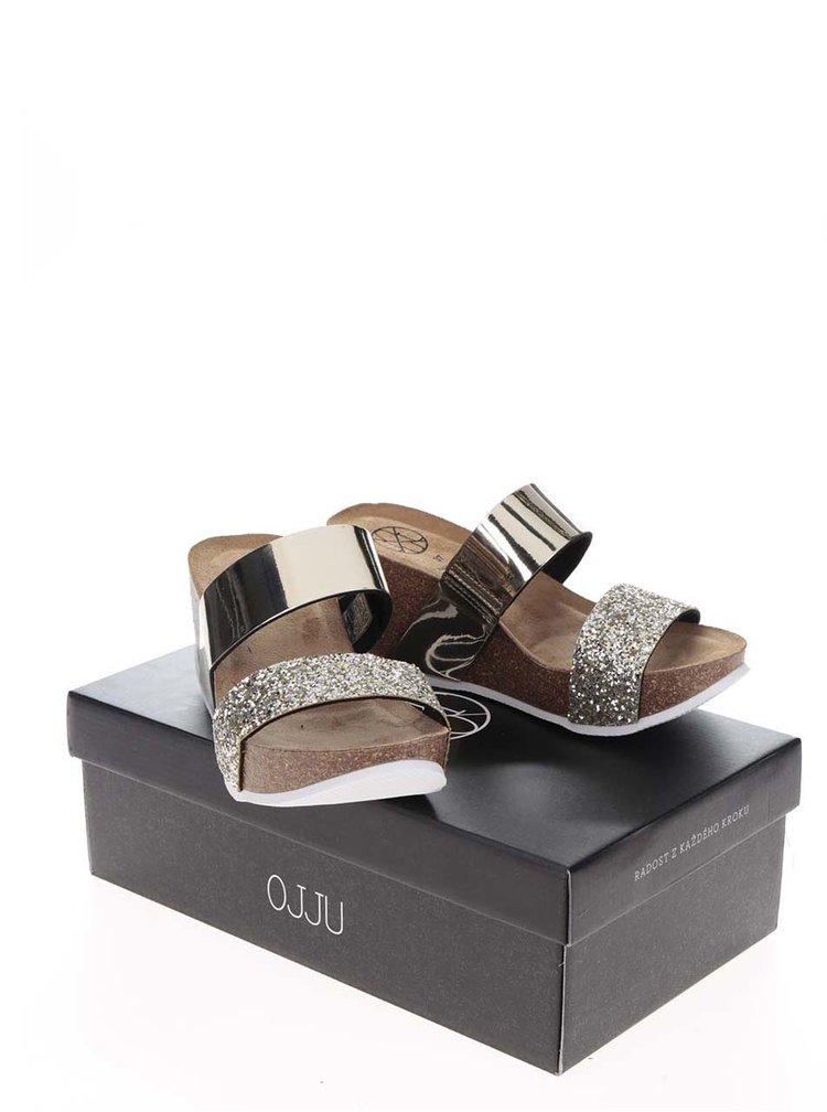 Papuci aurii OJJU cu platformă