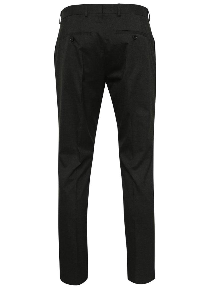Tmavě šedé oblekové slim fit kalhoty Jack & Jones Roy