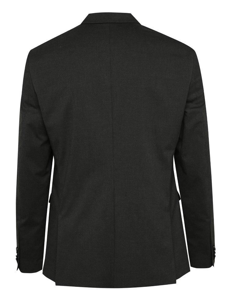 Tmavě šedé oblekové slim fit sako Jack & Jones Roy