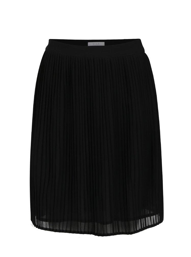 Černá plisovaná sukně VILA Dricca