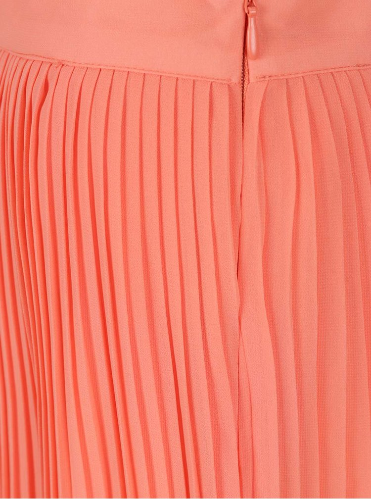 Fusta plisata portocaliu neon VILA Dricca