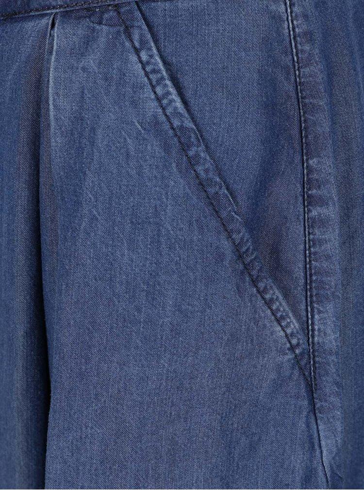 Modrá džínová sukně na knoflíky VILA Many