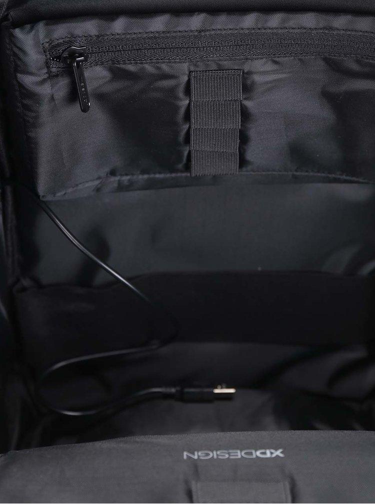 Šedo-modrý nevykradnutelný unisex batoh XD Design Bobby