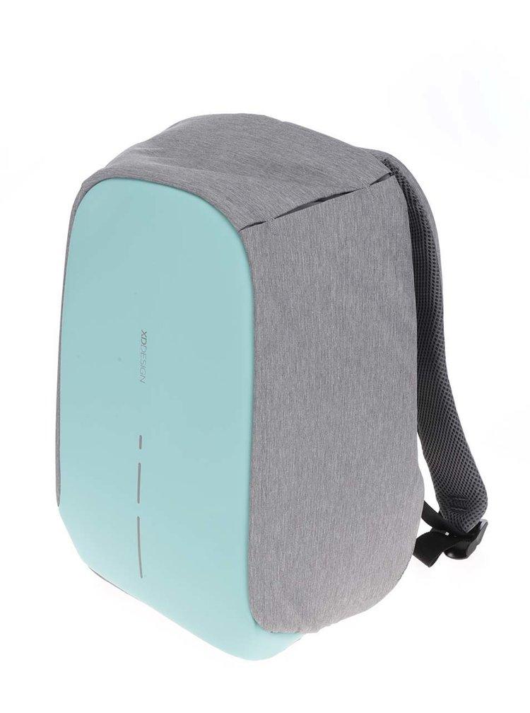 Šedo-zelený nevykradnutelný unisex batoh XD Design Bobby