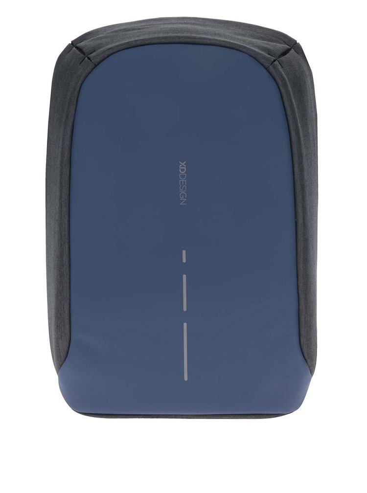 Šedo-tmavě modrý nevykradnutelný unisex batoh XD Design Bobby