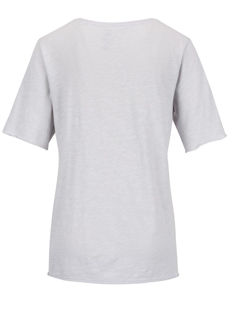 Šedé tričko s potiskem YAYA