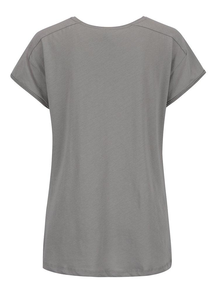 Šedé tričko s krátkým rukávem YAYA