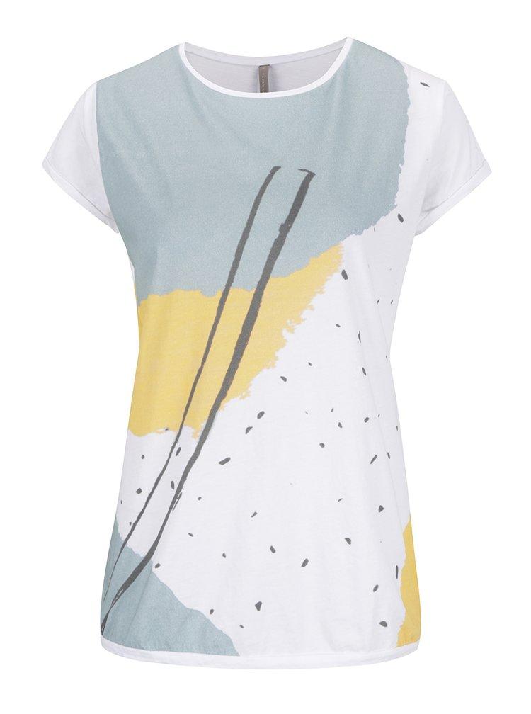 Bílé vzorované tričko YAYA