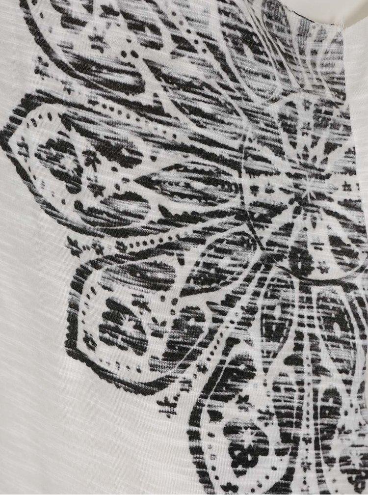 Top crem & negru ONLY Vanya cu imprimeu