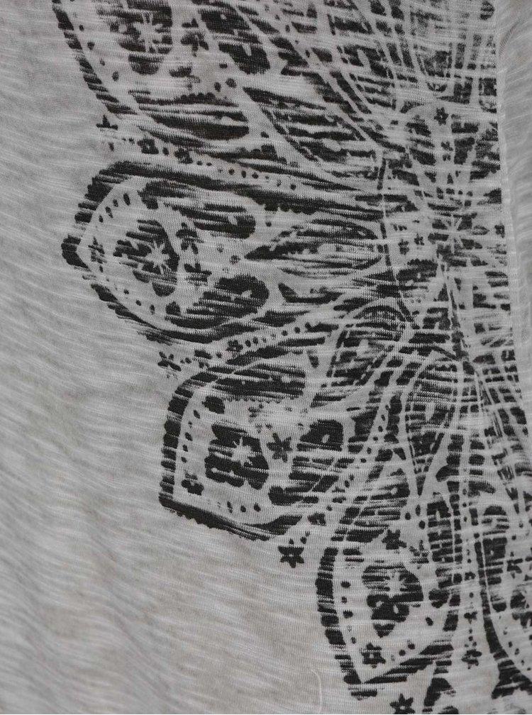 Top gri ONLY Vanya cu imprimeu