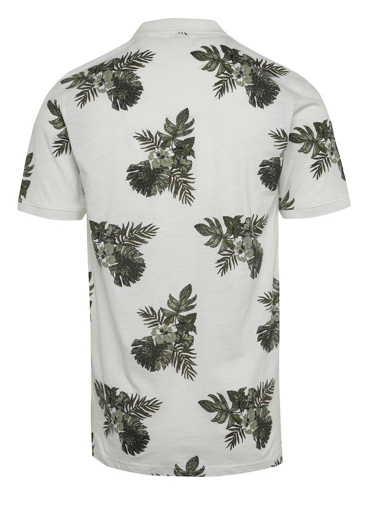 Zeleno-bílé vzorované polo triko ONLY & SONS Tymon