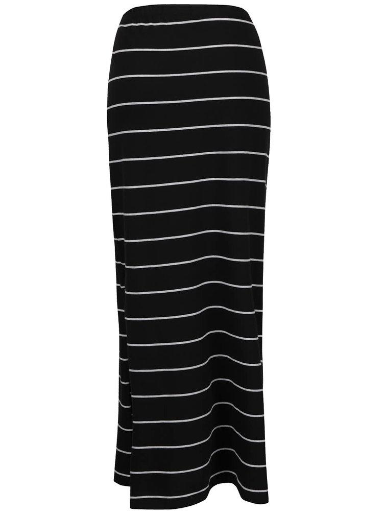 Šedo-černá pruhovaná maxi sukně ONLY Abbie
