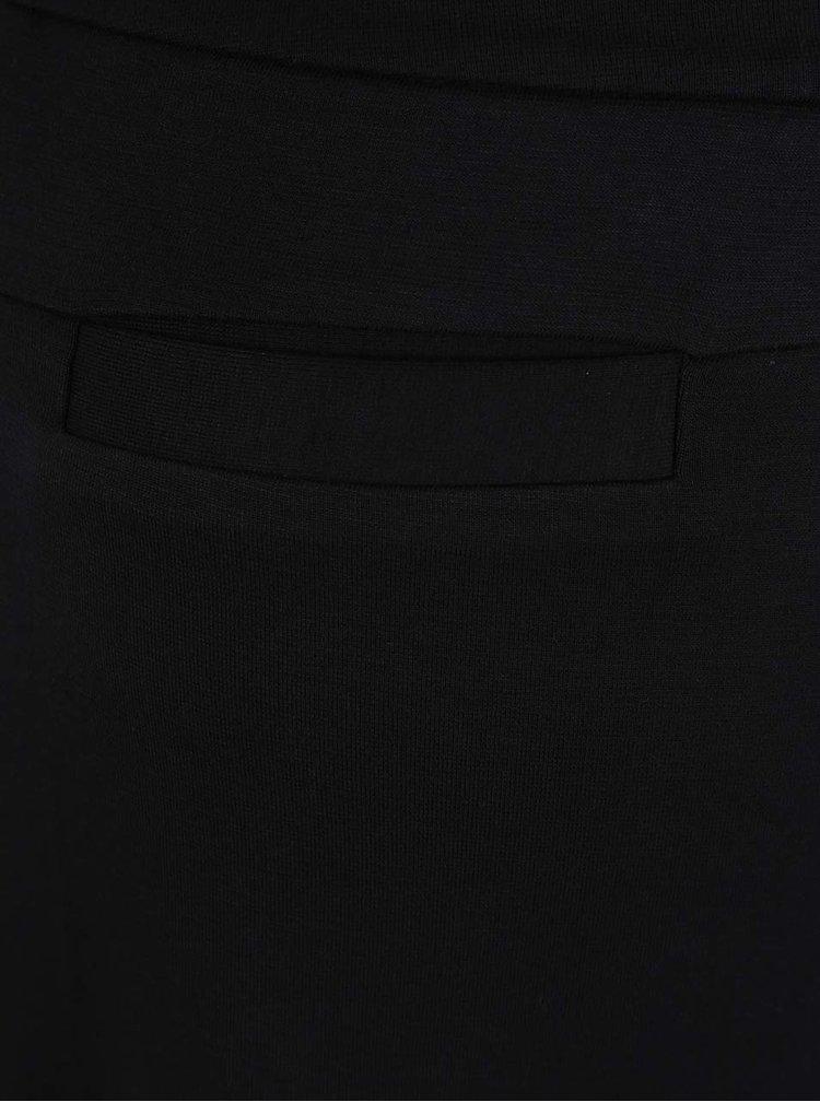 Černá sukně s rozparkem YAYA