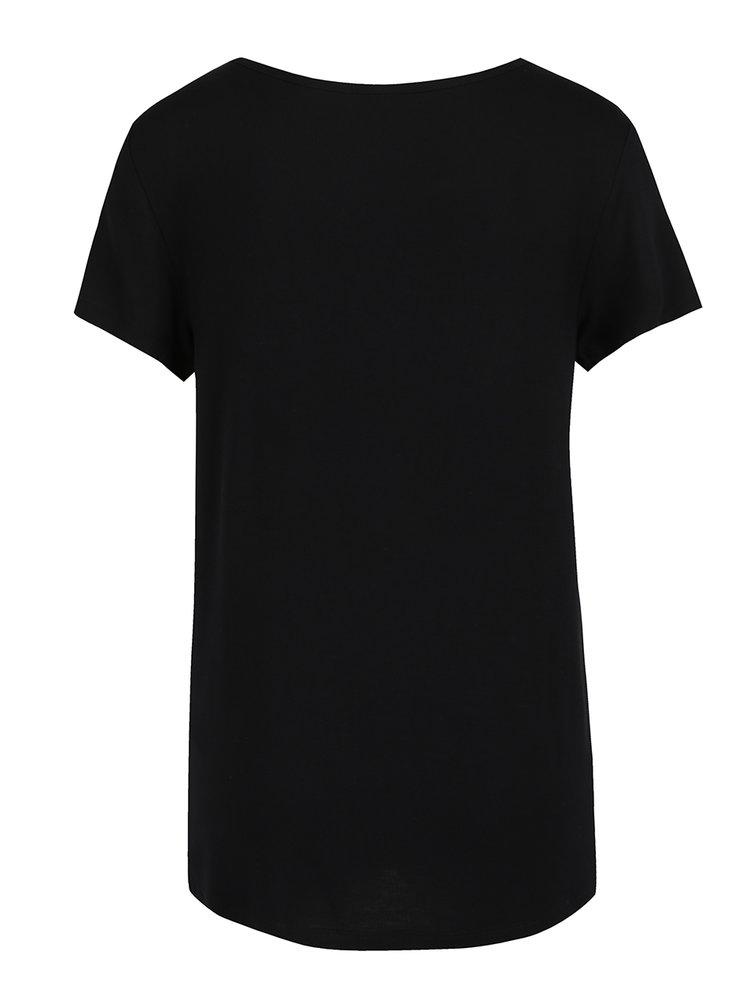Černé tričko s potiskem ONLY Arli