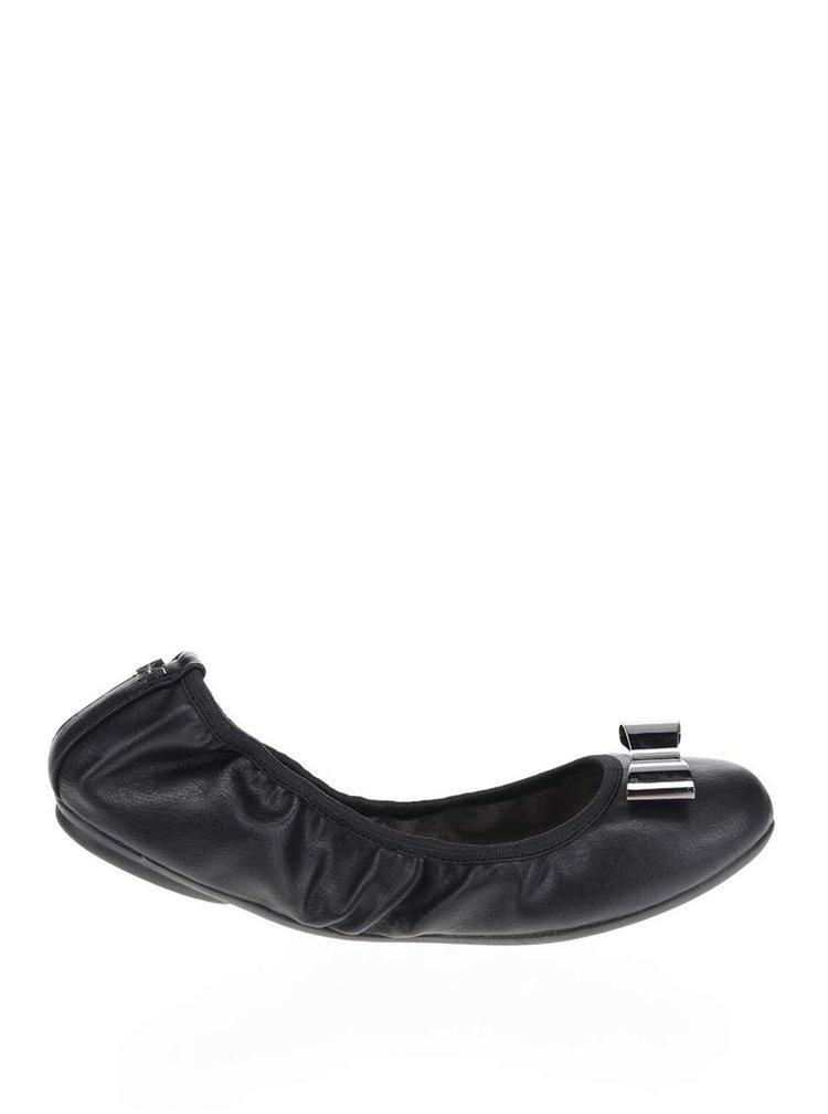 Černé baleríny s kovovou mašlí do kabelky Butterfly Twists Chloe
