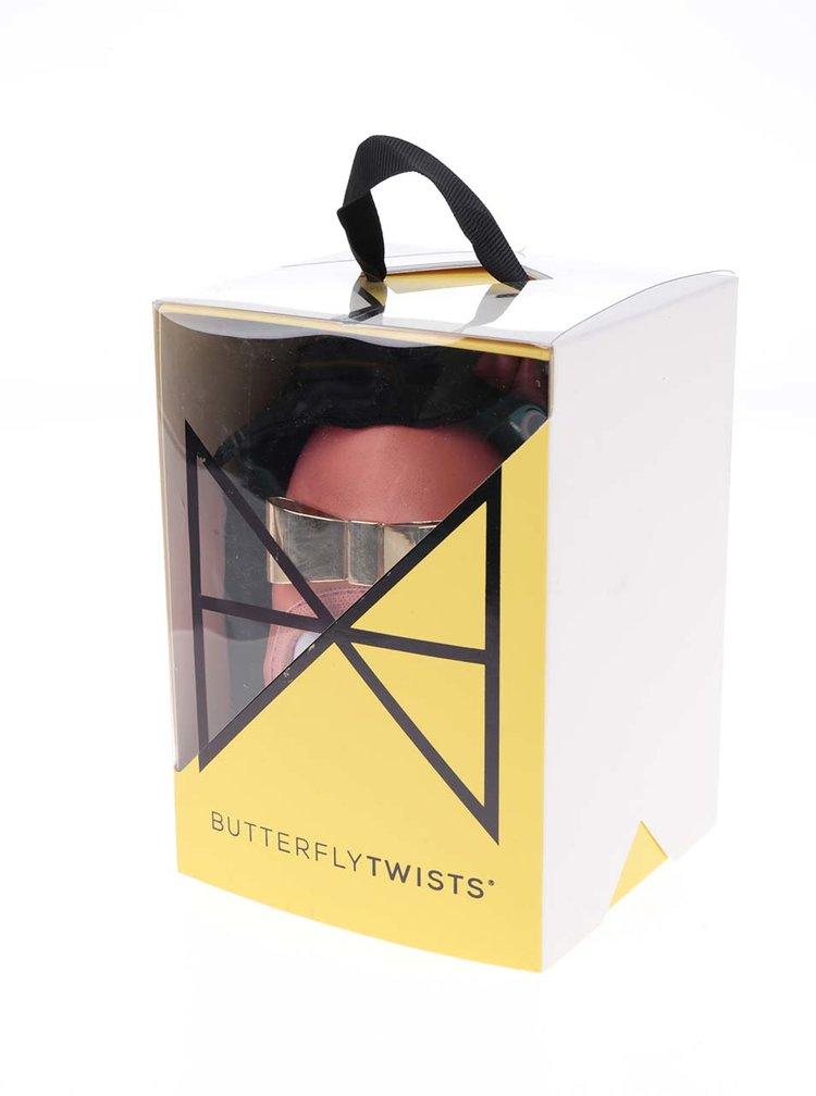 Korálové baleríny s kovovou mašlí do kabelky Butterfly Twists Chloe
