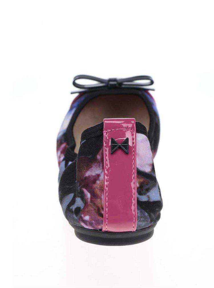 Černo-modré vzorované baleríny do kabelky Butterfly Twists Cara