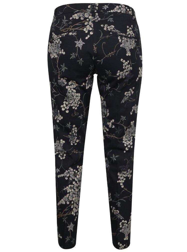Černé vzorované kalhoty YAYA