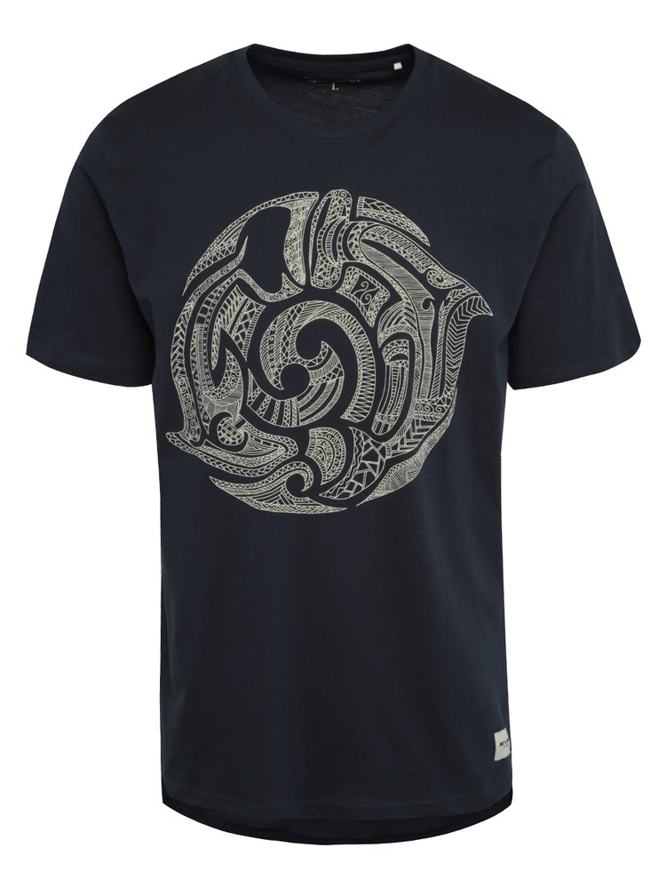 Tmavě modré triko s potiskem ONLY & SONS Semson