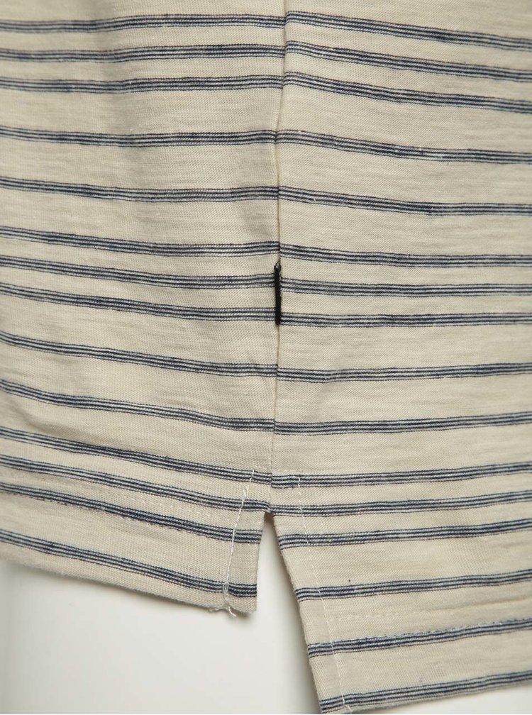 Modro-béžové pruhované triko ONLY & SONS Sean