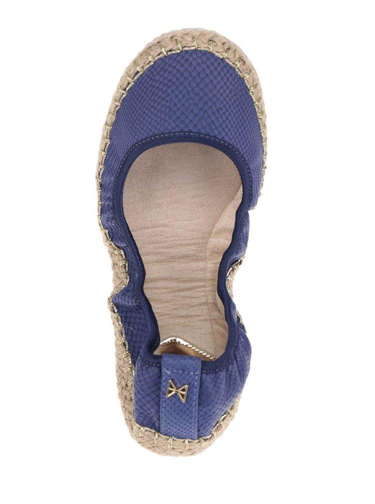 Modré baleríny s jemným vzorem do kabelky Butterfly Twists Gigi