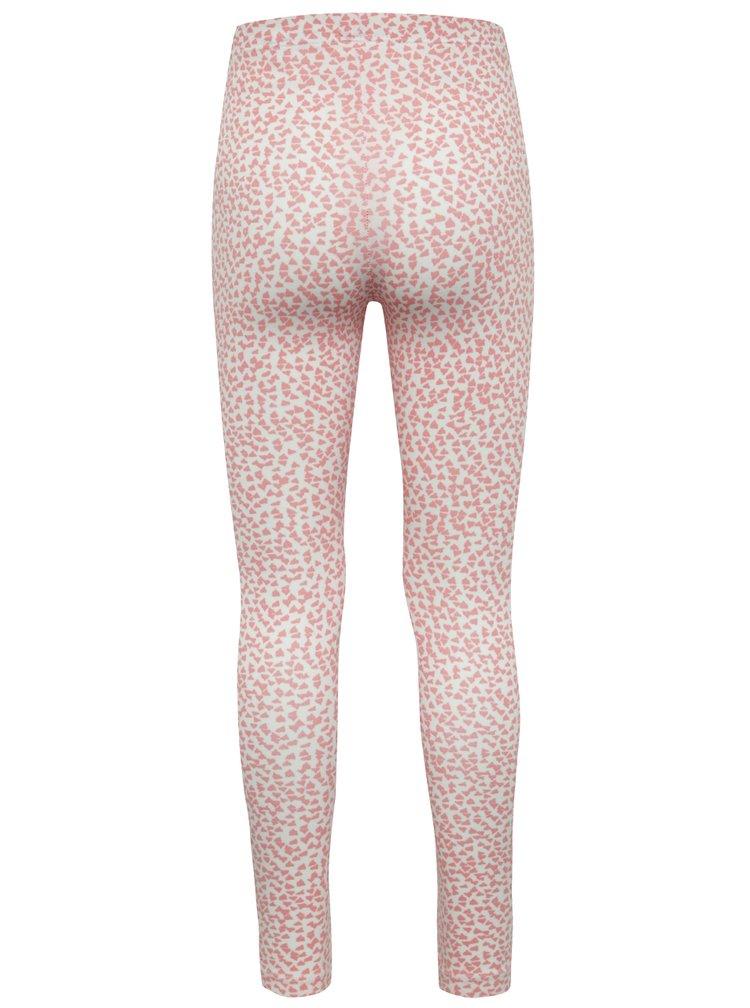 Růžovo-bílé vzorované holčičí legíny name it Karol