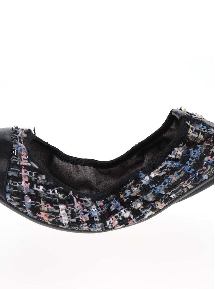 Modro-černé žíhané baleríny do kabelky Butterfly Twists Verity