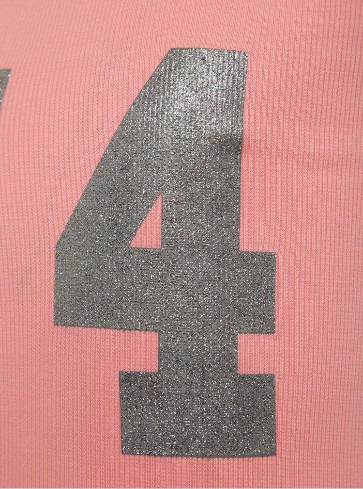Růžové holčičí žebrované šaty name it Jaxi