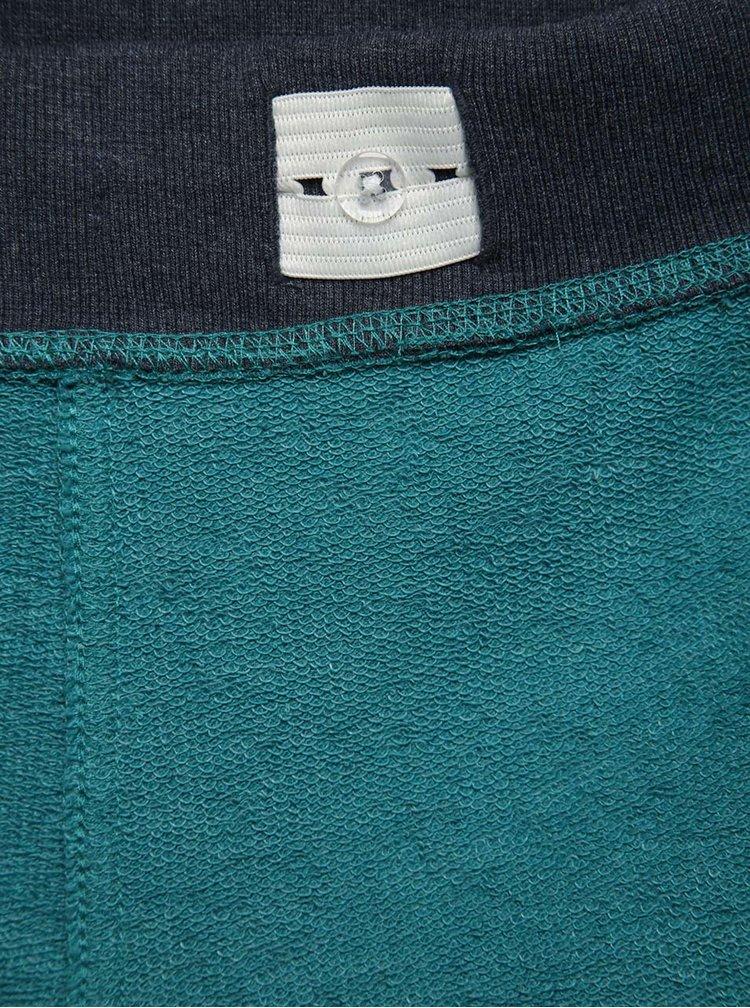 Modro-zelené klučičí kraťasy name it Camp