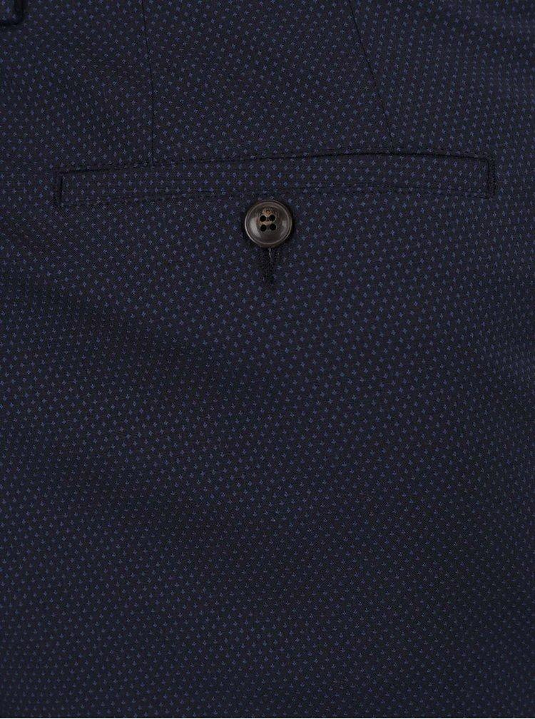 Pantaloni albastru închis Burton Menswear London cu model discret