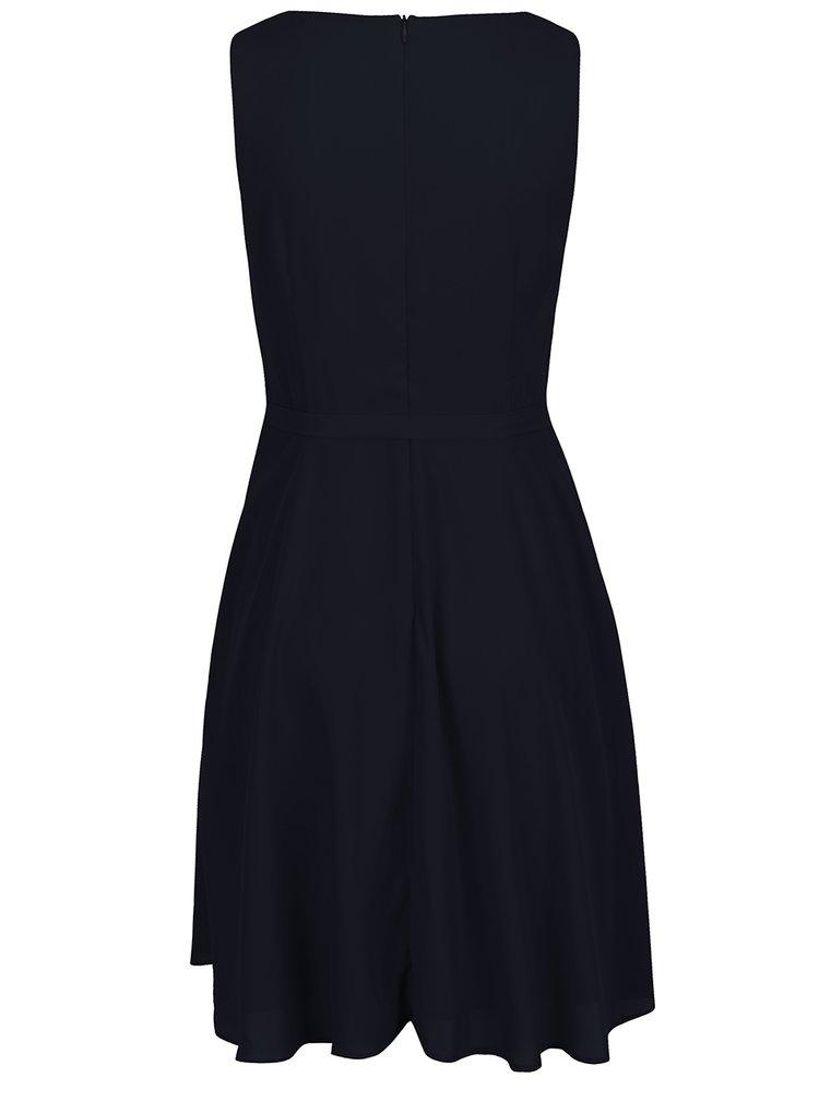 Tmavě modré šaty s páskem ONLY Kiss