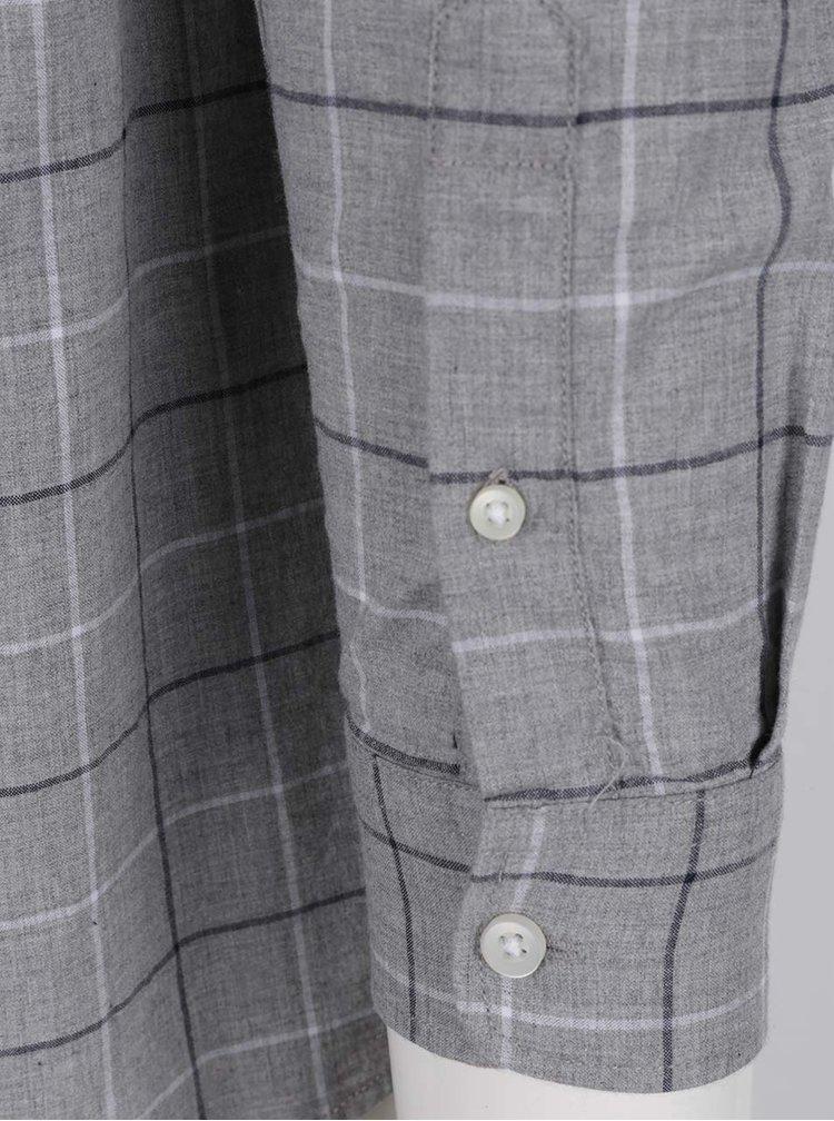 Šedá kostkovaná košile Burton Menswear London Cross