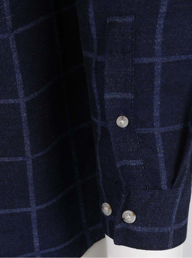 Camasa albastru inchis Burton Menswear London cu model in carouri