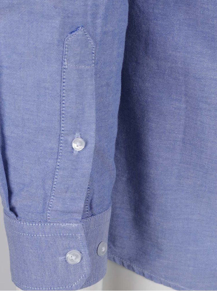 Camasa bleu cu guler buttons-down Burton Menswear London