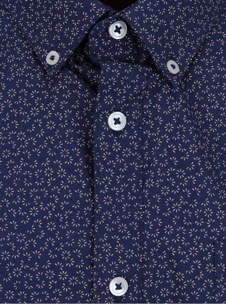 Tmavě modrá vzorovaná košile Burton Menswear London Ditsy