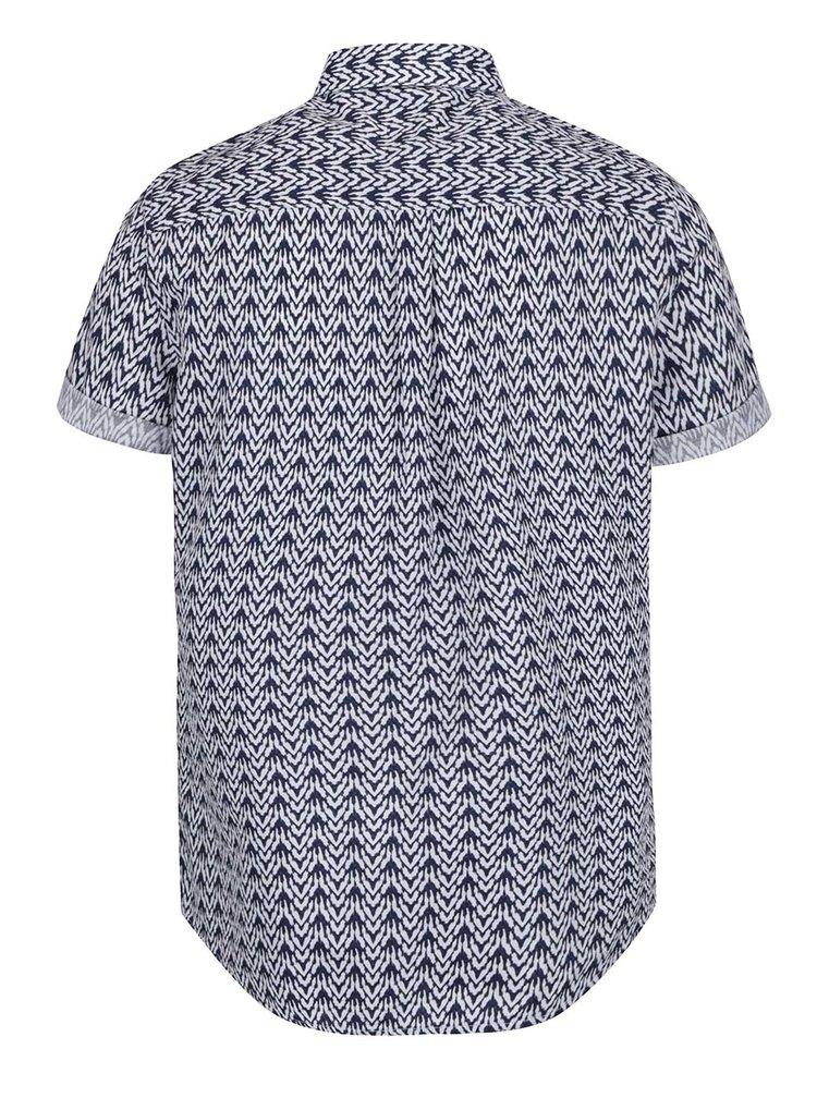 Bílo-modrá vzorovaná košile Burton Menswear London Ikat