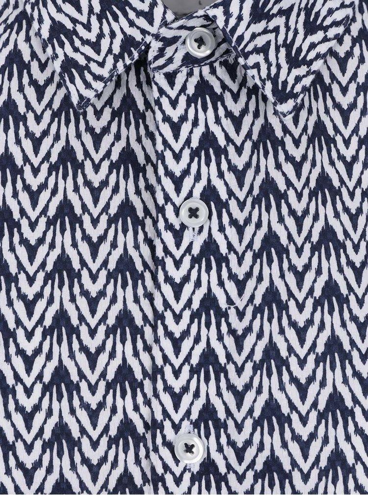 Camasa alb&albastru Burton Menswear London Ikat din bumbac