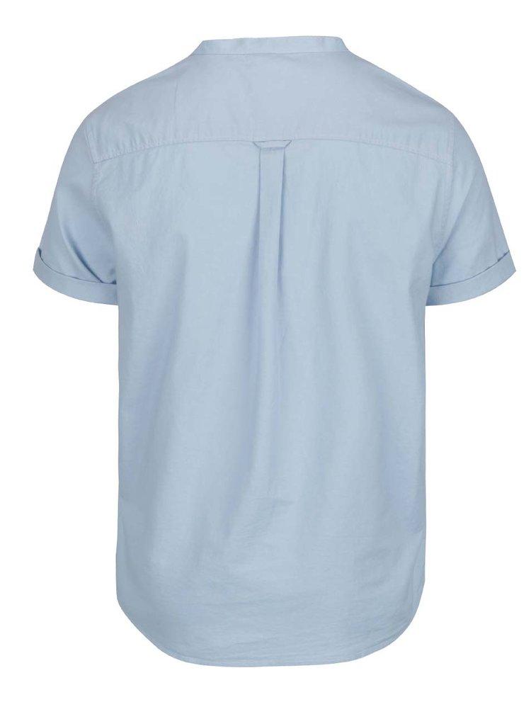 Světle modrá košile bez límečku Burton Menswear London